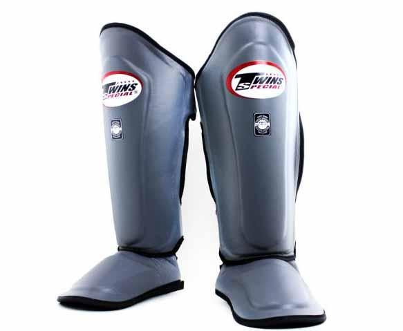 Twins Grey Shin Guards- Kicking, Martial Arts, MMA, Muay Thai - Image 1