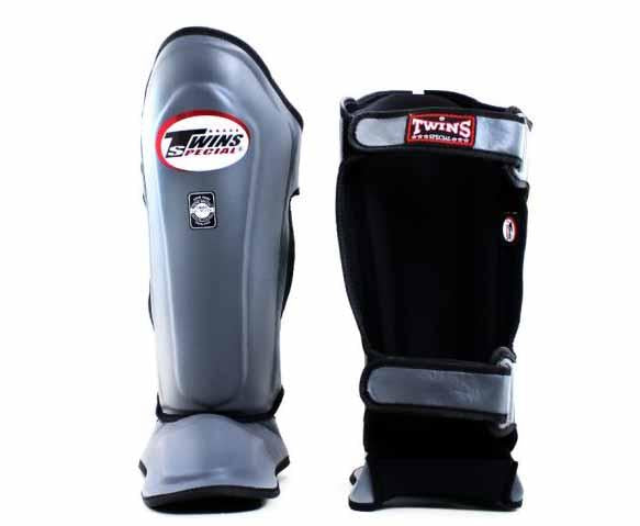 Twins Grey Shin Guards- Kicking, Martial Arts, MMA, Muay Thai - Image 2