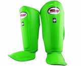 Twins Shin Guards - Twins Muay Thai, Kicking, Martial Arts & MMA - Green