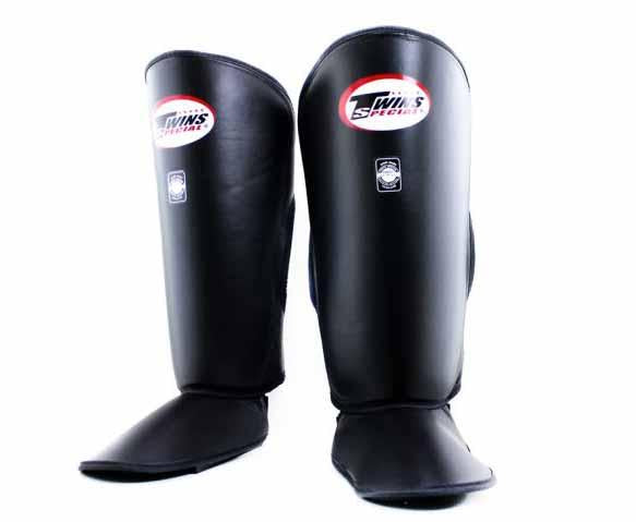 Twins Black Shin Guards- Kicking, Martial Arts, MMA, Muay Thai - Image 1
