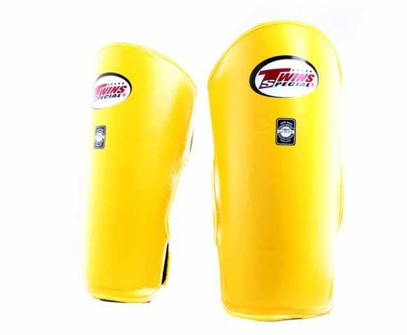 Twins Yellow Shin Guards- Kicking, Martial Arts, MMA, Muay Thai - Image 1