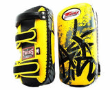 Twins Thai Pads - Breaking Point - Twins Muay Thai, Kicking, Martial Arts & MMA - Yellow, Black