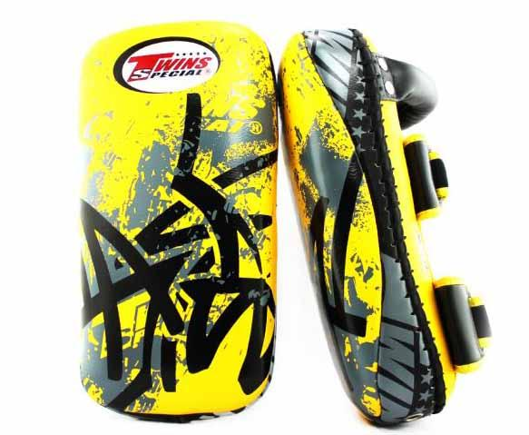 Twins Black-Yellow Signature Thai Pads- Kicking, MMA, Muay Thai - Image 2