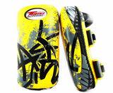 Twins Black-Yellow Signature Thai Pads- Kicking, MMA, Muay Thai