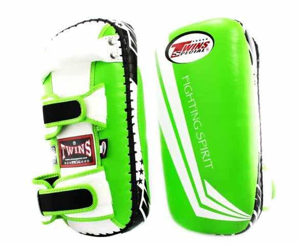 Twins White-Green Signature Focus Mitts- Punching, Boxing, MMA, Muay Thai - Image 1