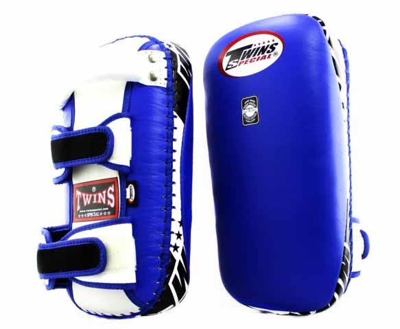 Twins Blue-White Thai Pads- Kicking, MMA, Muay Thai