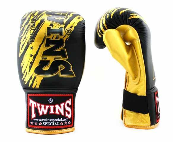 Twins Yellow-Black Signature Training Gloves- Punching, Boxing, Martial Arts, MMA, Muay Thai