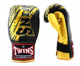 Twins Yellow-Black Signature Training Gloves- Punching, Boxing, Martial Arts, MMA, Muay Thai - Image 2