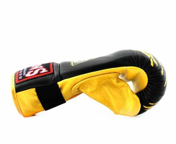 Twins Yellow-Black Signature Training Gloves- Punching, Boxing, Martial Arts, MMA, Muay Thai - Image 3