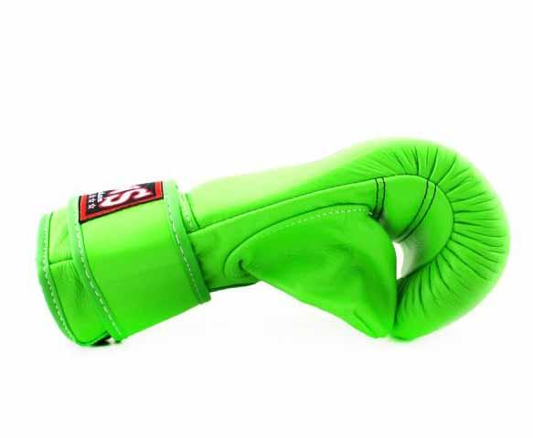 Twins Velcro Wrist Bag Gloves Full Thumb - Green