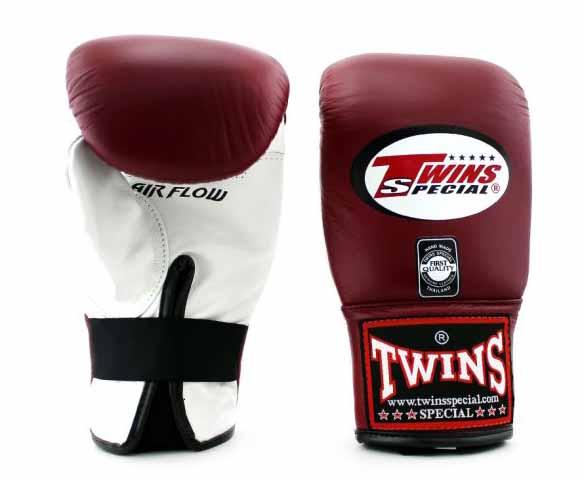 Twins White-Maroon Training Gloves- Punching, Boxing, Martial Arts, MMA, Muay Thai
