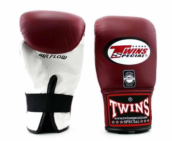 Twins White-Maroon Training Gloves- Punching, Boxing, Martial Arts, MMA, Muay Thai - Image 1