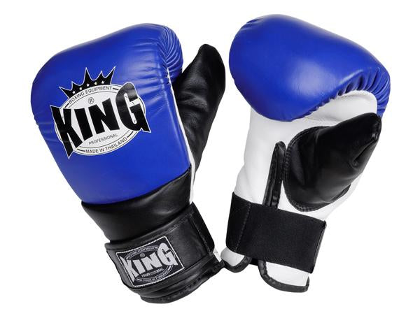 KING Training Bag Gloves- Velcro (Closed Thumb)- Premium Leather