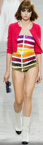 Chanel 2014 Spring Resort Cruise RTW Colorama swim Top FR 34 US 2/4