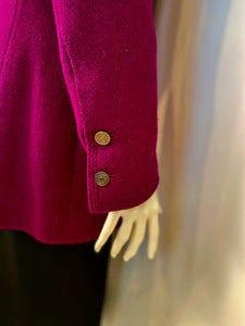 Chanel Vintage 97A, 1997 Fall Merlot Boucle jacket blazer FR 42 US 4/6