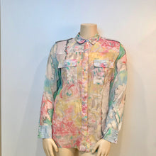 Load image into Gallery viewer, Chanel 2011 Resort Cruise Cotton pastel sheer blouse Men's FR 44 US 12/14