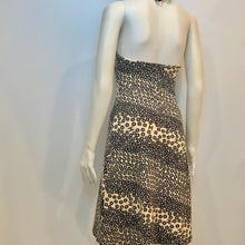 Load image into Gallery viewer, Stretchy Chanel halter top swimwear 03P coverup dress new w tags beige black FR 38 US 2/4