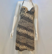 Load image into Gallery viewer, Stretchy Chanel halter top swimwear 03P coverup dress new w. tags beige black FR 38 US 2/4