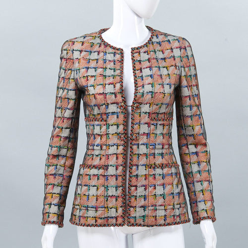 Chanel Vintage 98C Cruise Resort Fall NWT New With Tags Beaded Camellia Jacket FR 38 US 6