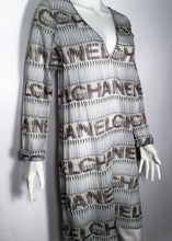 Load image into Gallery viewer, Chanel 05P Spring Cotton Tunic Beach Cover Up Logo Dress FR 38 US 4/6 Vintage