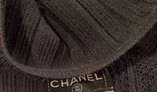 Load image into Gallery viewer, Chanel 05A Black Long Sleeve Ribbed CC Logo Sweater Dress FR 38 US 4/6