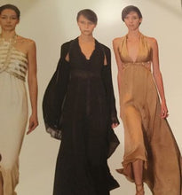 Load image into Gallery viewer, Chanel 03P Spring Vintage Beige Sequin Halter Backless Long Chiffon Silk gown FR 38 US 4