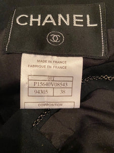 Chanel 00T, 2000 Transition Collection 'GABRIELLE' Buttons Black Jacket FR 38 US 4