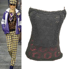 Load image into Gallery viewer, Chanel Vintage 04A Fall Autumn Crochet Camisole Black Tank Top FR 38 US 4/6