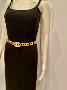 Chanel 95P 1995 Spring vintage belt necklace gold chain rhinestone CC