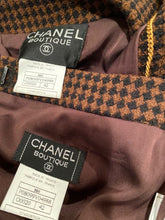 Load image into Gallery viewer, Vintage Chanel 96A 1996 Fall Brown Belted Skirt Suit Set FR 42
