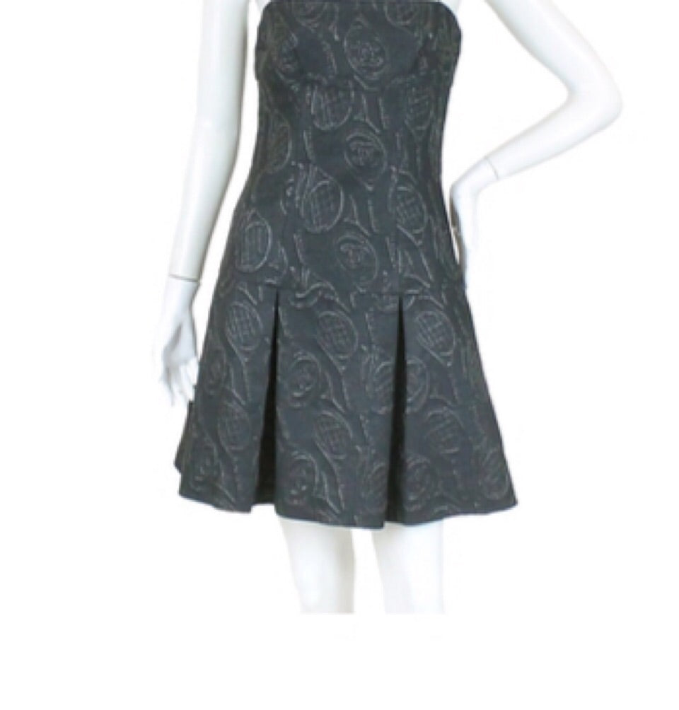 Chanel 09P, 2009 Spring Navy blue Tube Tennis Theme Dress FR 38 US 4