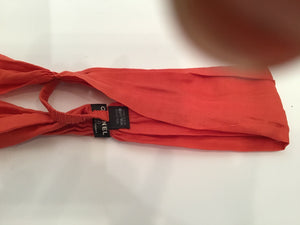 Chanel 08C Orange Cotton Scarf Neckerchief Headband headscarf Bandana