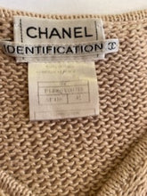 Load image into Gallery viewer, Vintage Chanel Identification 00C, 2000 Cruise Resort Knit Beige Pullover Sweater FR 42 US 6