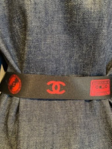 Rare Chanel Vintage 04P, 2004 Spring Disc Cassette Record Fabric Belt