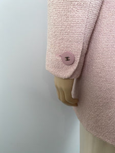 1990's Vintage Chanel pink coat jacket US 4/6/8
