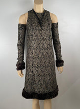 Load image into Gallery viewer, Chanel 05A 2005 Fall Removable Gloves Dress FR 38 US 4