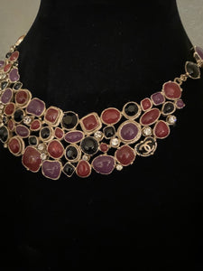Rare Chanel 08A 2008 Fall Gripoix multicolor collar Necklace