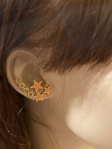 Chanel 01P, 2001 Spring Comte Coco shooting Stars Pierced Earrings