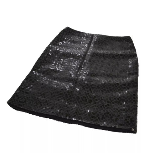 Chanel 02A 2002 Fall black sequin skirt FR 38 US 4