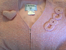 "Load image into Gallery viewer, Chanel 04C Cruise Resort Vintage ""Coco"" pink tweed jacket cardigan FR 42 US 4/6"
