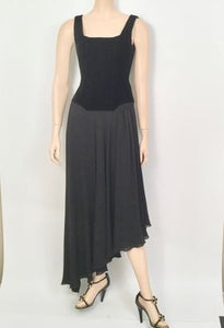 93A, 1993 Fall Chanel Vintage Velvet corset Chiffon Gown Dress FR 36 US 4