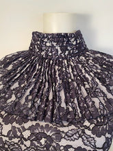 Load image into Gallery viewer, Chanel Navy Blue Cotton Camellia Floral Print Lace Dress FR 42 US 6