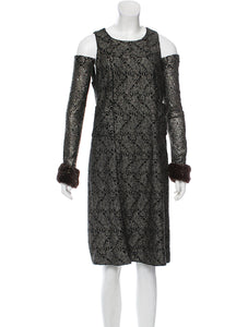 Chanel 05A 2005 Fall Removable Gloves Dress FR 38 US 4