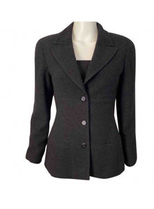 Vintage Chanel 98A, 1998 Fall Black Jacket Blazer FR 38 US 4