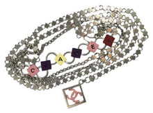 Load image into Gallery viewer, Chanel 04P Spring Multi strand accessory CC Logo Silver Chain Belt Necklace