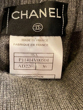 Load image into Gallery viewer, Chanel Vintage 98A, 1998 Fall Cashmere Gray short sleeved sweater top blouse FR 36 US 4