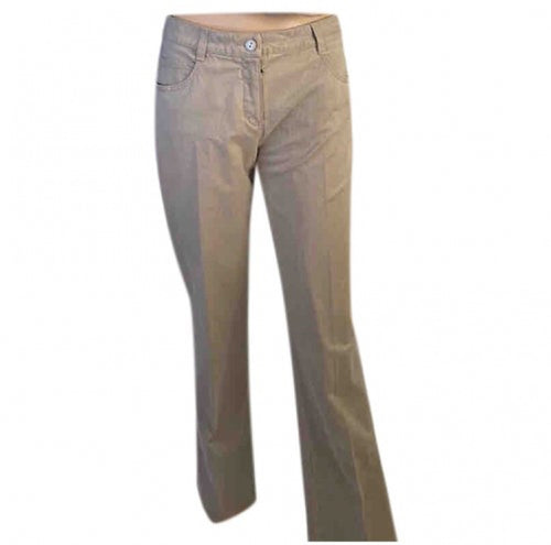 Chanel 03P 2003 Spring low rider light brown khaki jeans FR 40
