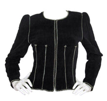 Load image into Gallery viewer, Chanel Vintage 06A Fall Autumn Velvet Cotton Chains Jacket FR 42 US 6/8