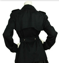 Load image into Gallery viewer, Chanel Vintage 08C Cruise Resort Navy Blue Belted Trench Coat Jacket FR 50 US 14/16