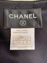 Load image into Gallery viewer, Chanel 03A Black Satin Snap Collection Blouse FR 42